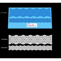 Cake Lace Dual Ribbon Mat For Cake Decoration - Tudor Rose Lace Mat